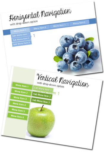 Horizontal and Vertical e-Learning Navigation